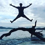 Jumping for joy in Tamrindo