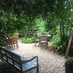 Such a welcome (peaceful) dining garden