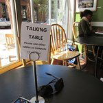 No table hogs here! People actually TaLk to one another!