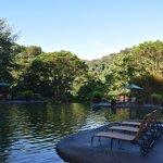 Pool area near trout lake