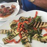 Grilled vegetables full of flavor , not oily