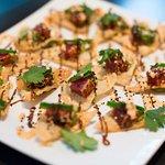 Seared Ahi Tuna with Fried Wontons