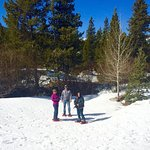 Snowshoeing at Swan River Home