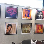 Bollywood themed pictures in the Lobby