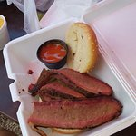 The absolute best meal in Cashiers or maybe anywhere. Perfect smoke ring on the brisket and real