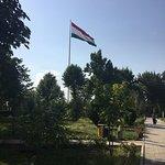 Flagpole with the Flag of Tajikistan