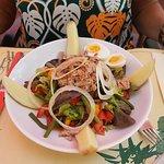Salade nicoise et salade grecque