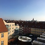 View from the terrace on the 6th floor of Skt Petri