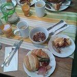 das Frühstück hier hat mich gestärkt :) !