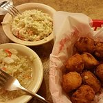 Hushpuppies and two slaws