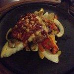Chicken and pulled pork fajita
