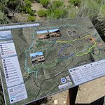 This sign shows the trails that can be hiked or ridden on with ATVs