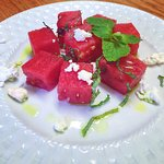 Compressed Watermellon Salad with Feta and Mint