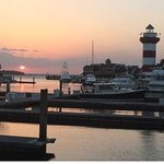 Sunset view of Harbour & Light House Hilton Head Island, SC