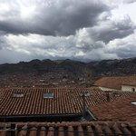 vista de San Blas desde la ventana del comedor, nuestra habitación también daba a la plaza.