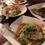 Fish and rice dish