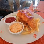 Fish & Chips Fresh Caribbean snapper, deep-fried in a parsley beer batter served with fries and