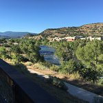 Animas river view from patio dining.