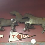 True Texas Decor. Hook 'em Horns!!