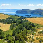 The lodge is adjacent to secluded Whakaipo Bay on Great Lake Taupo