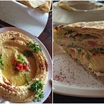 Hummus and Falafel Panini