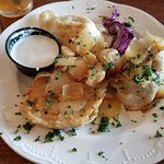 Pierogies to share (or have as an entree)