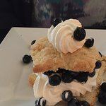 Blueberry shortcake...only disappointment was that we expected sauce, not whole berries!
