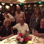 Celebrating our friends Judy and Norm's anniversary. Standing from L to R - Brigitte, Michael, N