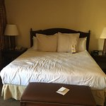 "Retreat to Romance ""Romantic Turndown"" rm 529. Two top pillows thrown on couch..."