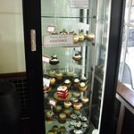 Specialty case....yummy velvet cake and cupcakes!