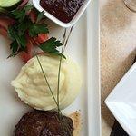 Steak mit Kartoffelpüree