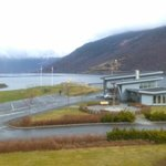 The cruise liner docks.
