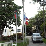 Flags from Peace negotiations with Colin Powell