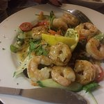 beautiful pan fried prawns cooked to perfection.