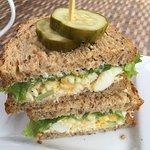 fantastic egg salad sandwich on delicious fresh multigrain bread