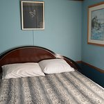 The bed was everything you'd need, a bit hard and the blanket looked like leopard seal skin, I w