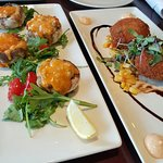 Yummy Mushrooms w/lobster and Crab Cakes