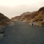 Walking out of Mosaic Canyon