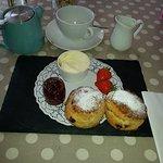 Cream tea, very tasty fresh warm scones