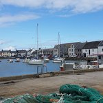 View over the harbour to the quayside and SteamPacket Inn