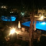 What an amazing night view of the pool area.