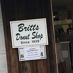 Britt's Donut Shop sign