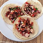 Octopus tacos- tender and delicious
