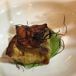 "eggplant ""parmigiana"" with pestosauce"