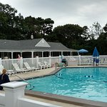 Lovely pool- note the umbrella tables around the outside of the fenced area for having snacks/dr