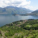 Lake Como and the winding path back.