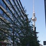 Vom Hotel ist der Fernsehturm zu sehen