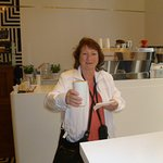 Super Capuccino im Kaffe am Brandenburger Tor, es war schön in Berlin