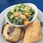Caesar salad, Maryland crab soup and a large barge traversing the C&D Canal