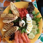 The Salmon salad platter - Dad loved it!